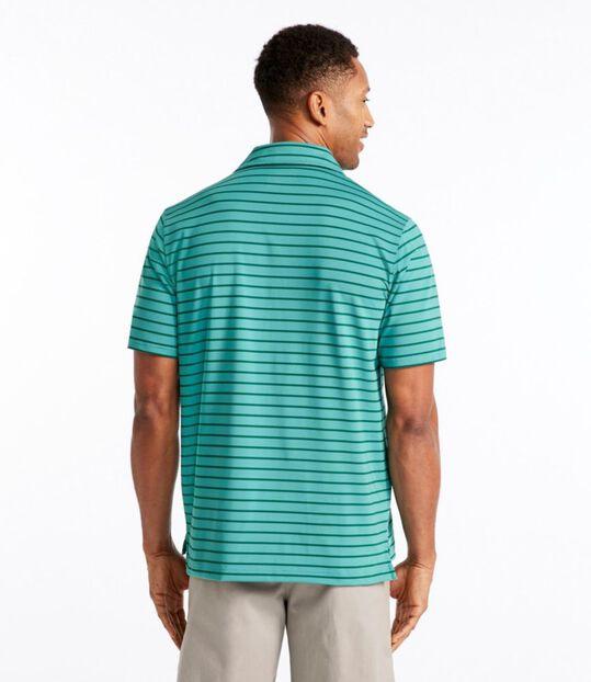 エル・エル・ビーン・ストレッチ・ポロシャツ、半袖 ストライプ, , hi-res