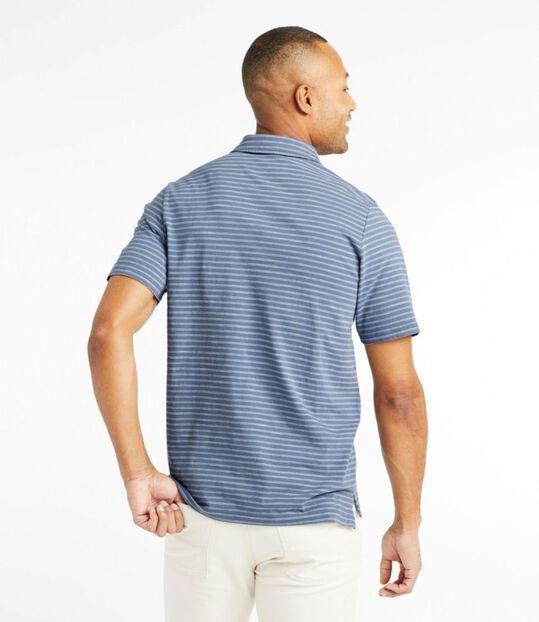 レイクウォッシュ・オーガニック・コットン・ポロシャツ、半袖 ストライプ, , hi-res