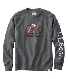 L.L.Bean x Peanuts スウェットシャツ、クルーネック, , hi-res
