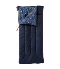 キッズ・キャンプ・スリーピング・バッグ、コットンブレンドラインド 4℃, , hi-res