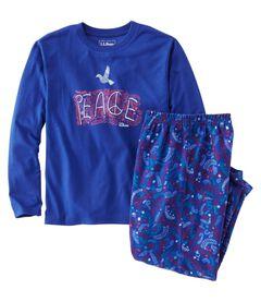 ビーンズ・フランネルPJ 、Tシャツとパンツのセット, , hi-res