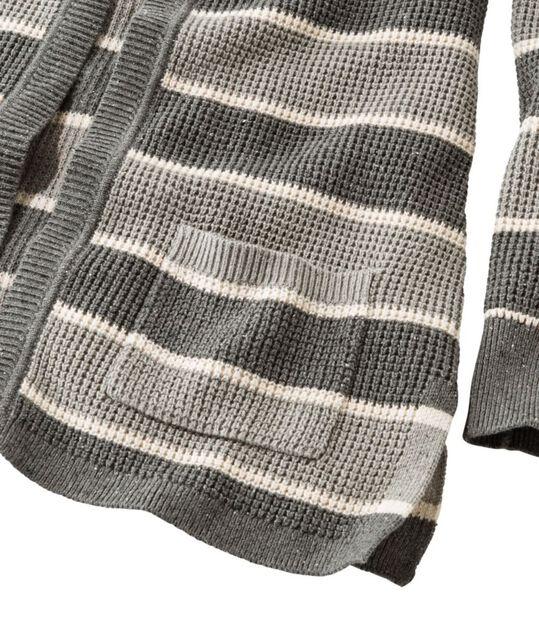 オーガニック・ドニゴール・セーター、オープン・カーディガン ストライプ, , hi-res