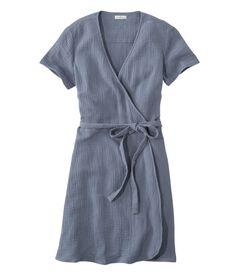 シグネチャー・ゴーズィ・テクスチャード・ラップ・ドレス, , hi-res