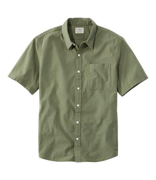 オーガニック・コットン・シアサッカー・シャツ、半袖, , hi-res