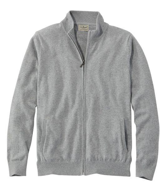 コットン/カシミヤ・セーター、フルジップ, , hi-res