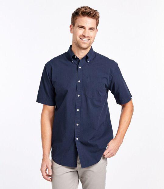 シアサッカー・シャツ、半袖 ストライプ, , hi-res