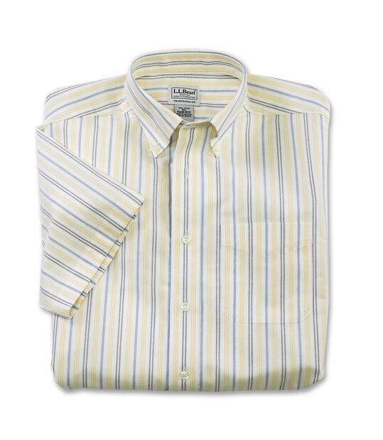 リンクルフリー(形態安定)・クラシック・オックスフォード・クロス・シャツ、半袖 マルチ・ストライプ, , hi-res