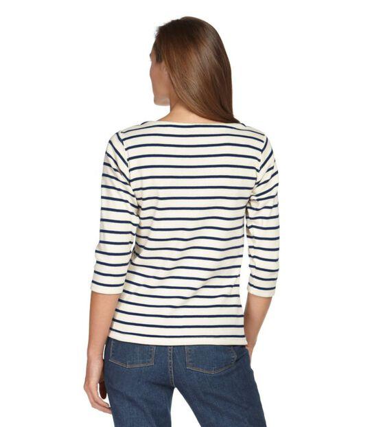 フレンチ・セーラー・シャツ、7分丈袖ボートネック, , hi-res