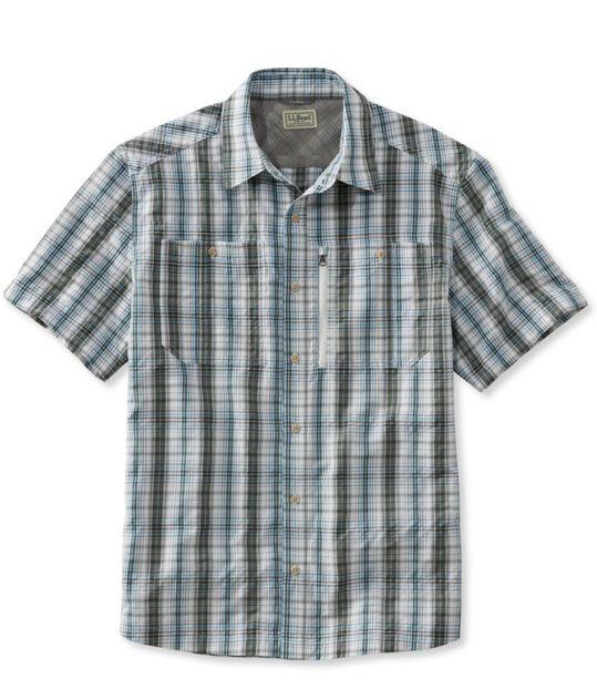 クール・ウィーブ・シャツ、半袖 プラッド, , hi-res