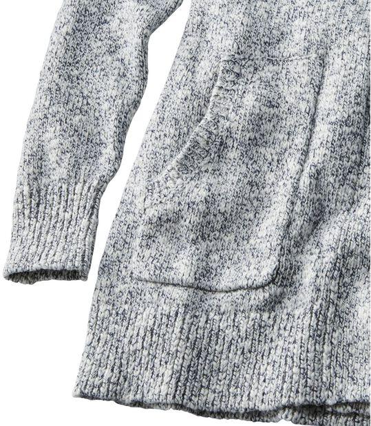 コットン・ラグ・セーター、オープン・カーディガン, , hi-res