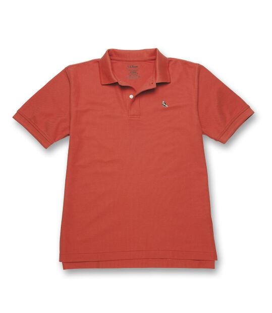 エンブロイダー・ダブル・エル・ポロシャツ、半袖 タン/ブラウンの刺繍入り, , hi-res