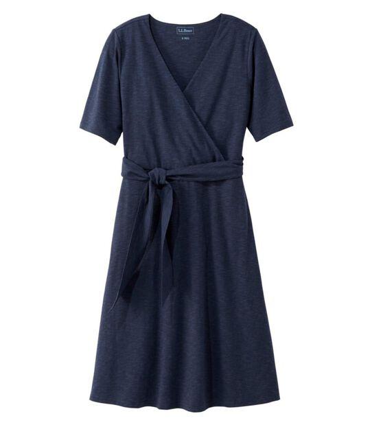 コットン/テンセル・ドレス、ひじ丈袖, , hi-res