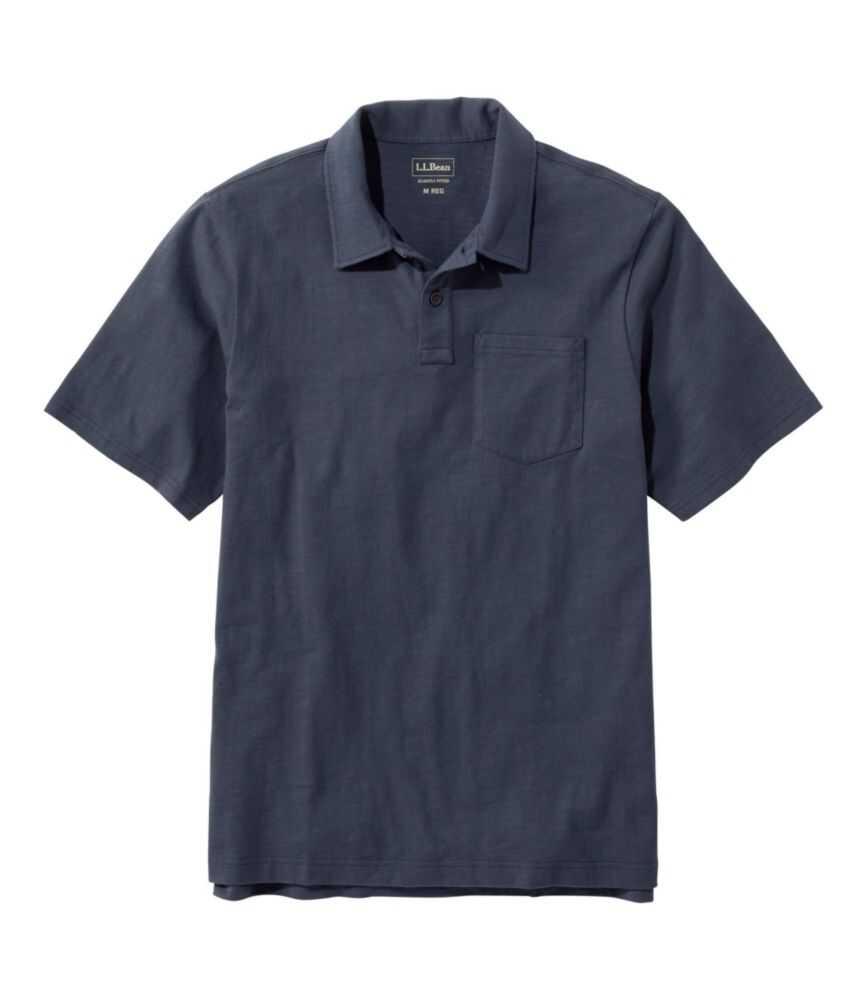 レイクウォッシュ・オーガニック・コットン・ポロシャツ、半袖