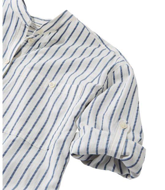 シグネチャー・シアサッカー・ボーイフレンド・シャツ、半袖, , hi-res