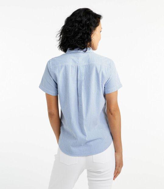 バケーションランド・シアサッカー・シャツ、ポップオーバー 半袖 ストライプ, , hi-res