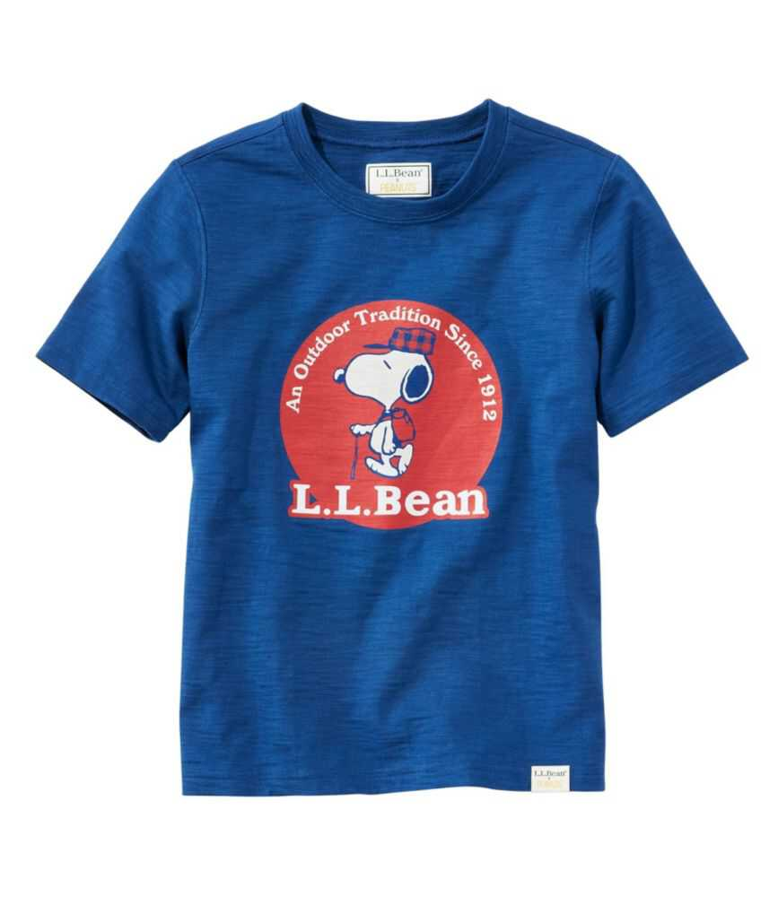 キッズ L.L.Bean x Peanuts ティ、半袖