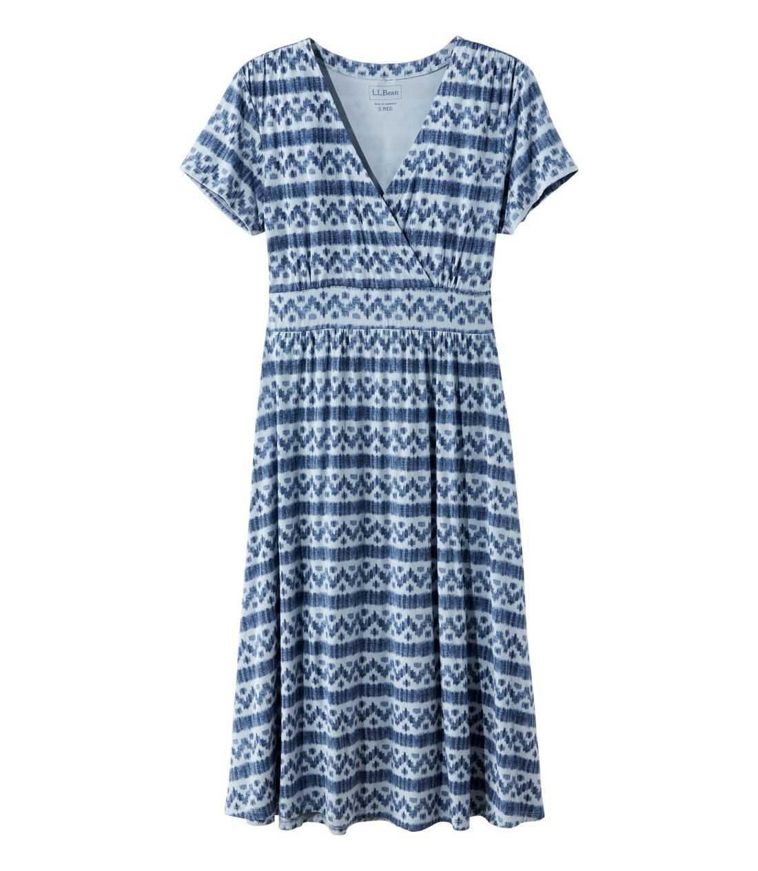 サマー・ニット・ドレス、半袖 イカット