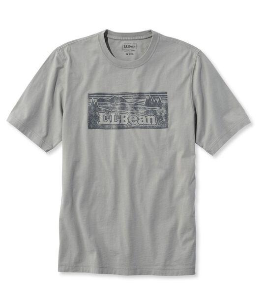 レイクウォッシュ・ガーメント・ダイ・コットン・クルーネック・グラフィック・ティ、半袖 カタディン・ロゴ, , hi-res