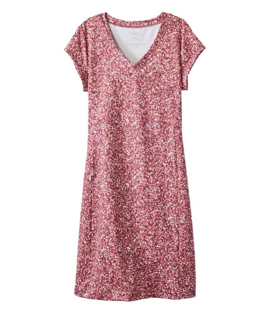 フィットネス・ドレス、半袖 プリント
