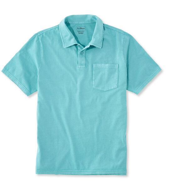 レイクウォッシュ・ガーメント・ダイ・コットン・ポロシャツ、スライトリー・フィット 半袖, , hi-res