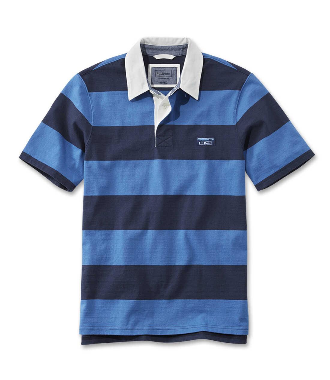 レイクウォッシュ・ラグビー・シャツ、半袖 ストライプ