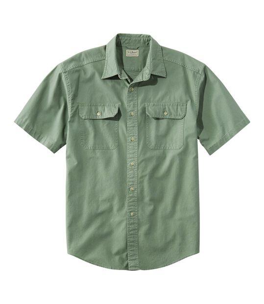 サンウォッシュ・キャンバス・シャツ、半袖, , hi-res