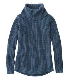 ワッフル・ステッチ・セーター、コールネック・プルオーバー, , hi-res