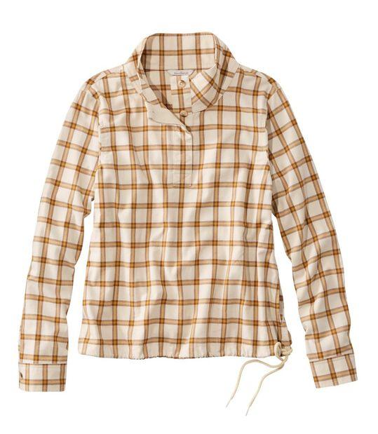 シグネチャー・ブラッシュ・コットン・モックネック・シャツ、パターン, , hi-res