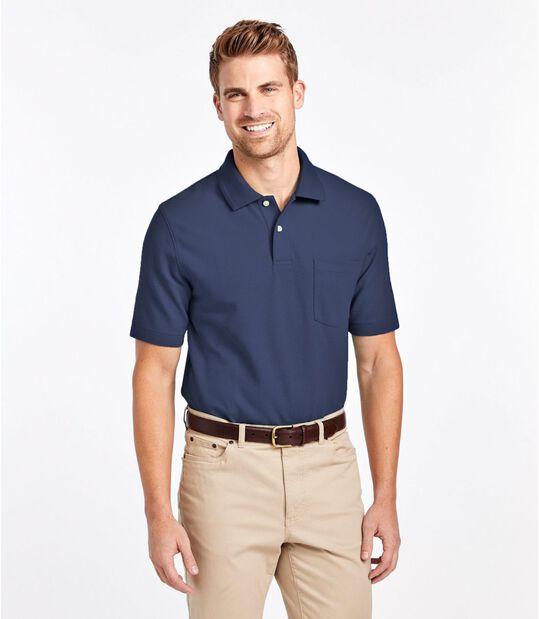 プレミアム・ダブル・エル・ポロシャツ、半袖 ポケット付き, , hi-res