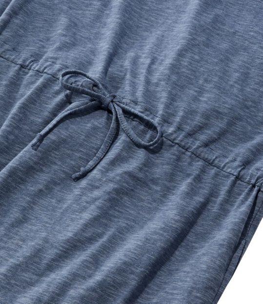 コットン/テンセル・スラブ・ドレス、半袖 タイフロント, , hi-res