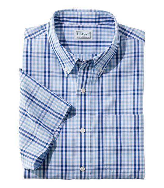 リンクルフリー(形態安定)・バケーションランド・スポーツ・シャツ、半袖 ギンガム, , hi-res