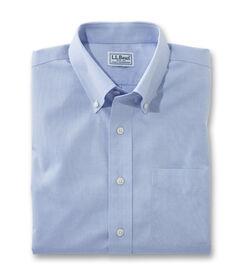 リンクルフリー(形態安定)・ピンポイント・オックスフォード・クロス・シャツ、半袖 スライトリー・フィット, , hi-res