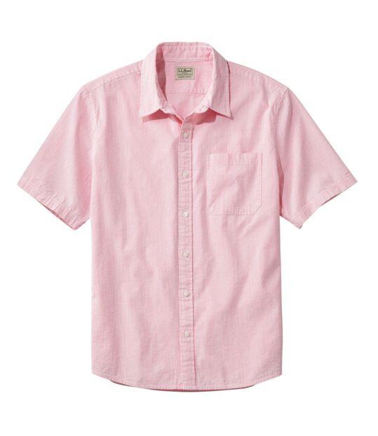 オーガニック・コットン・シアサッカー・シャツ、半袖 ストライプ, , hi-res
