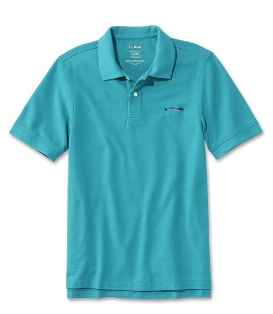 プレミアム・ダブル・エル・ポロシャツ、半袖 カタディン・ロゴの刺繍入り, , hi-res