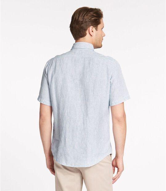 エル・エル・ビーン・リネン・シャツ、半袖 ストライプ, , hi-res
