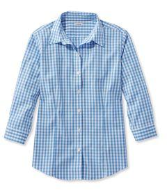リンクルフリー(形態安定)・ピンポイント・オックスフォード・シャツ、7分丈袖 ギンガム, , hi-res