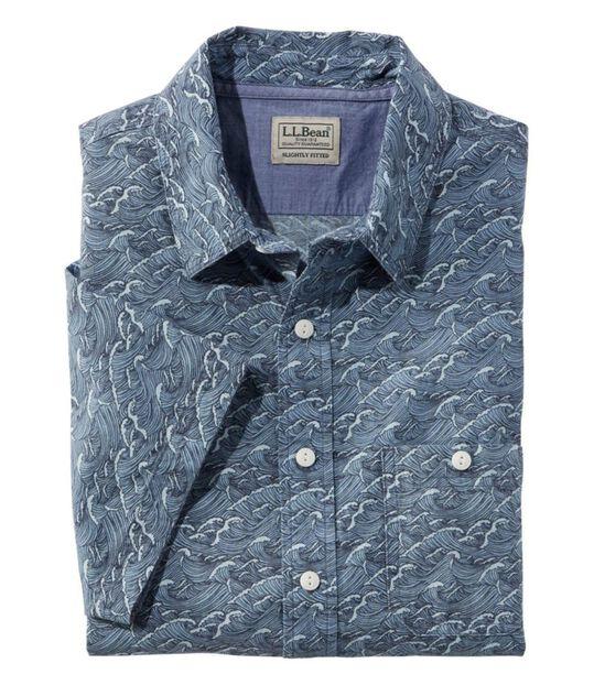 レイクウォッシュ・オーガニック・コットン・キャンプ・シャツ、半袖 プリント, , hi-res