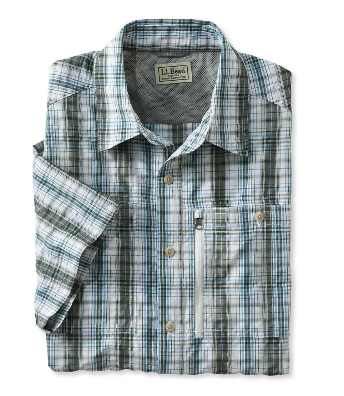 クール・ウィーブ・シャツ、半袖 プラッド