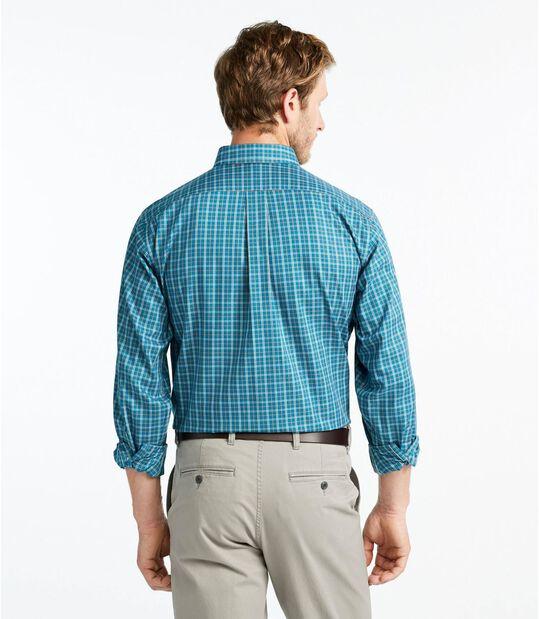 リンクルフリー(形態安定)・ツイル・スポーツ・シャツ、長袖 プラッド, , hi-res