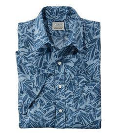 エル・エル・ビーン・リネン・シャツ、半袖 プリント, , hi-res