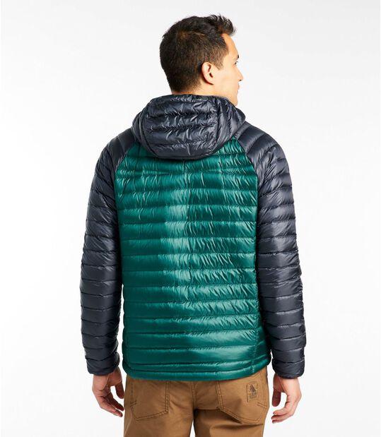 ウルトラライト 850 ダウン・セーター、フード付き カラーブロック, , hi-res
