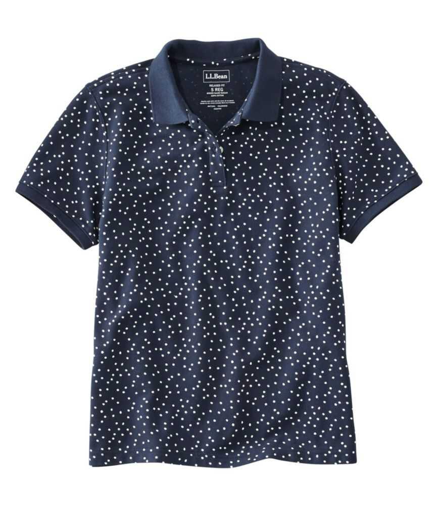 プレミアム・ダブル・エル・ポロシャツ、リラックス・フィット 半袖 プリント