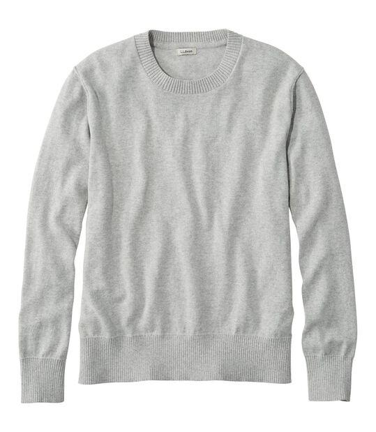 コットン/カシミヤ・セーター、クルーネック, , hi-res