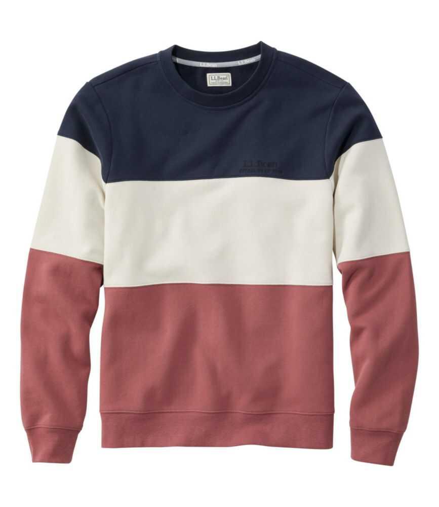 エル・エル・ビーン 1912 スウェットシャツ、クルーネック カラーブロック