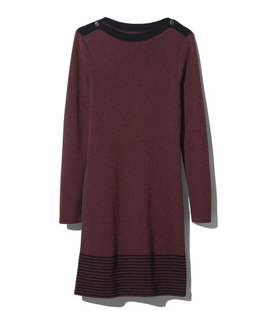 シグネチャー・メリノ・ボートネック・セーター・ドレス, , hi-res