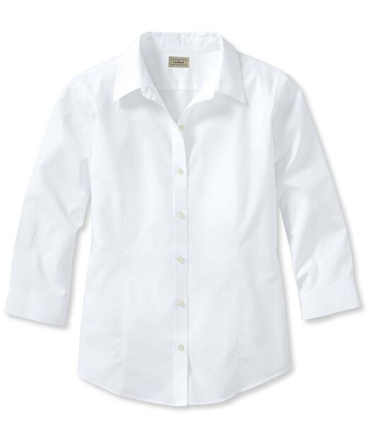 リンクルフリー(形態安定)・ピンポイント・オックスフォード・シャツ、7分丈袖, , hi-res