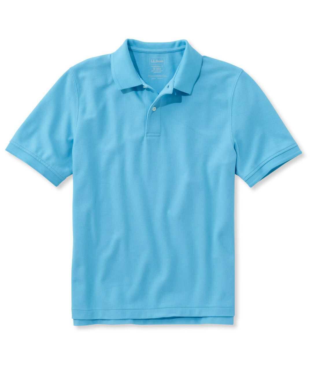 プレミアム・ダブル・エル・ポロシャツ、半袖 無地
