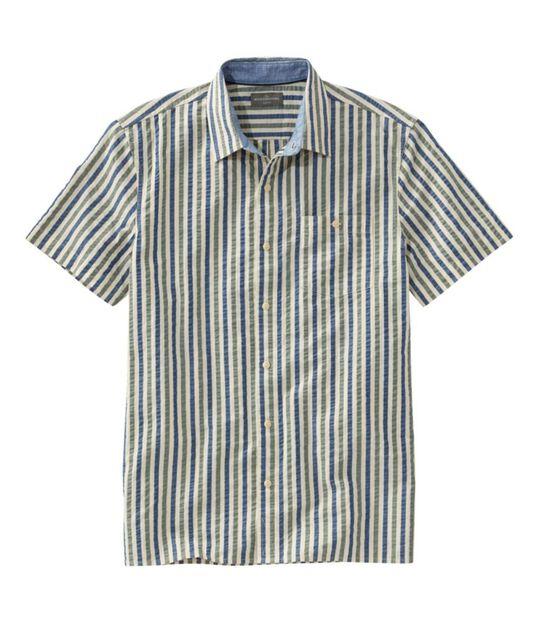 シグネチャー・シアサッカー・シャツ、半袖, , hi-res