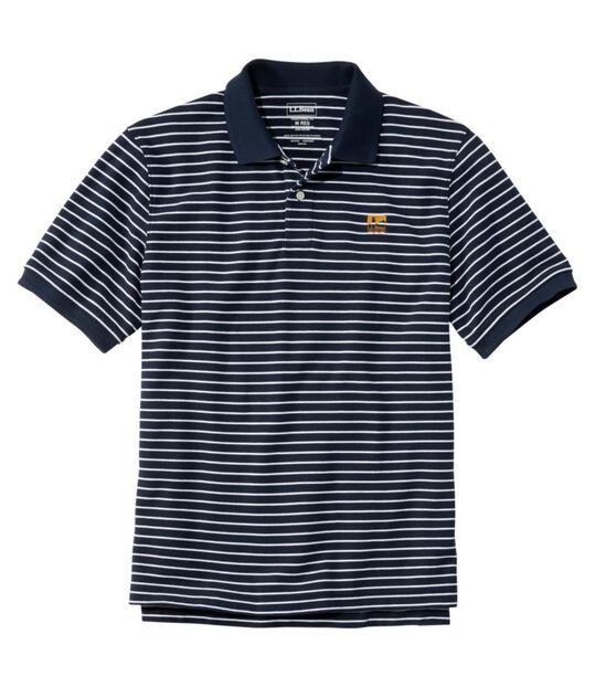プレミアム・ダブル・エル・ポロシャツ、半袖 ストライプ, , hi-res