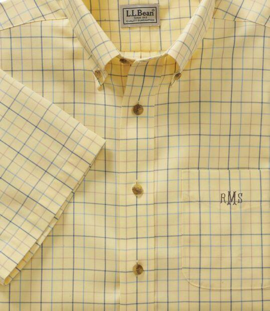リンクルフリー(形態安定)・ツイル・スポーツ・シャツ、半袖 ウインドウペーン, , hi-res